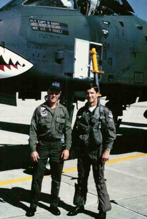 friends Boudle, Dennis, and our A-10 Warthog