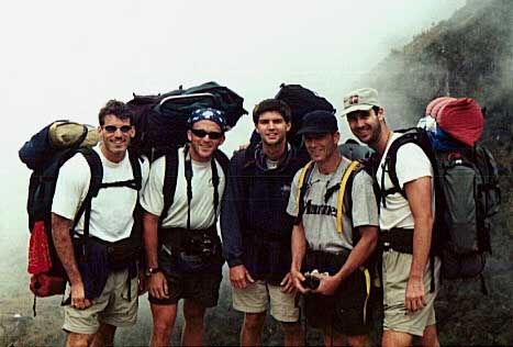 backpacking to Machu Picchu with friends